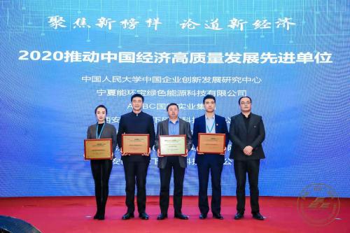 2020中国经济年度峰会成功召开,能环宝喜获殊荣!
